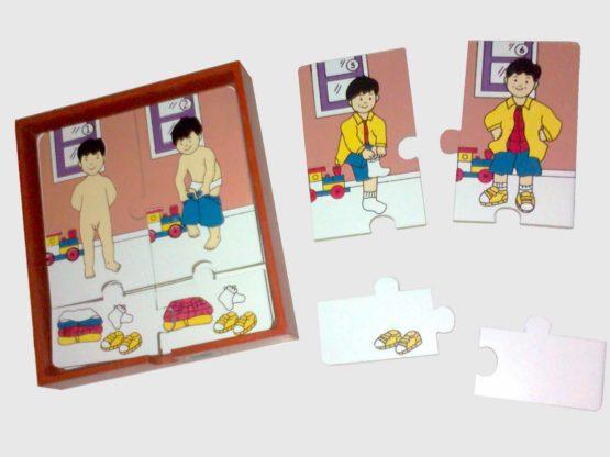Puzzle Urutan Berpakaian 3 Lapis