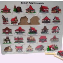 Puzzle Rumah Adat 34 Provinsi