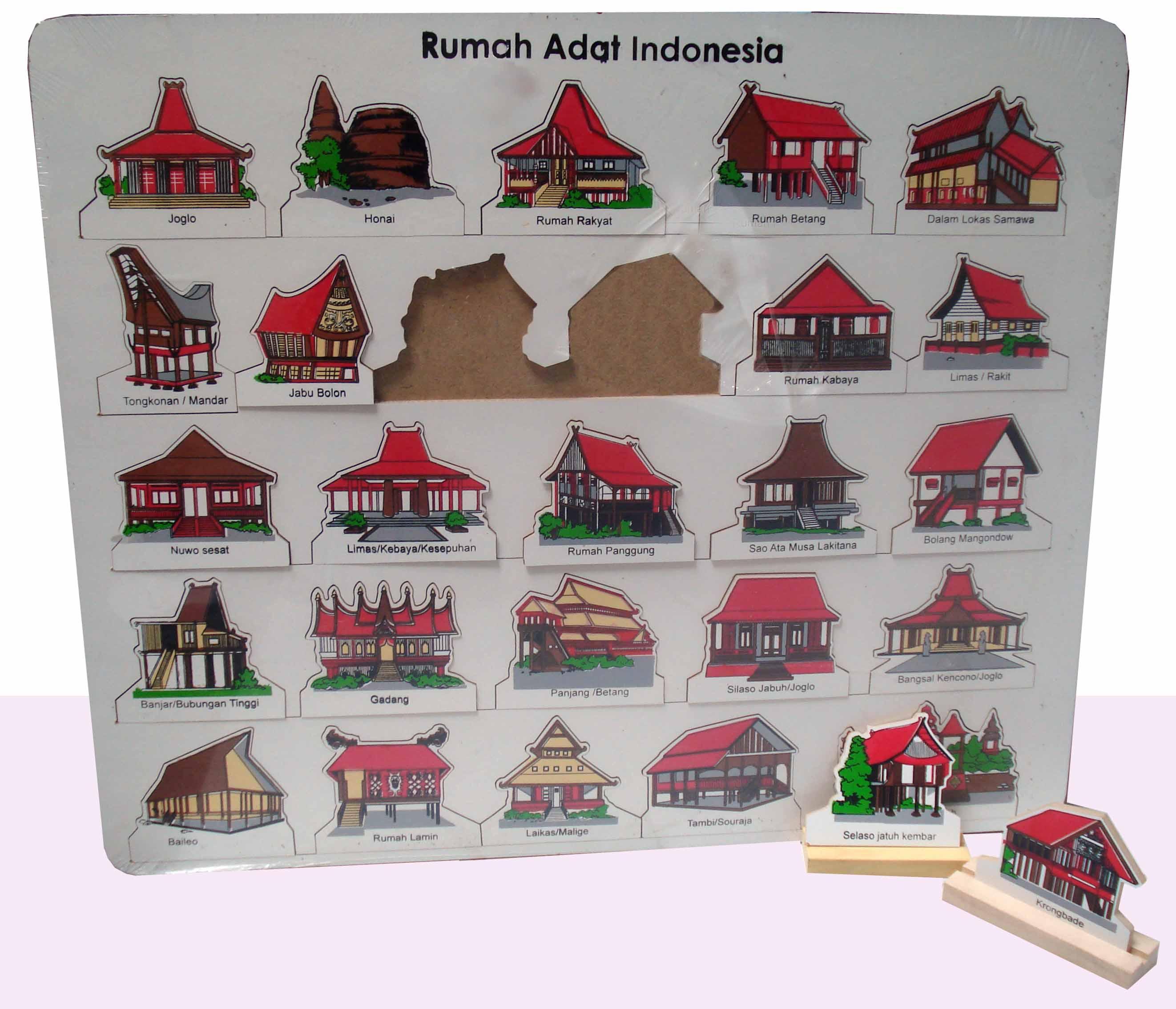 Puzzle Rumah Adat 34 Provinsi Toys Papoe